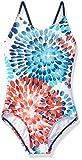 Kanu Surf Big Girls' Daisy Beach Sport 1-Piece Swimsuit, Red/White/Blue, 12