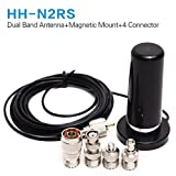 HH-N2RS Vhf UHF Dual Band Antenna + 5M Coaxial Cable Magnetic Mount +