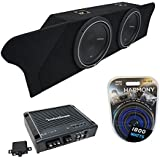Fits 2010-2015 Chevy Camaro Coupe Trunk Rockford Punch P1S410 Dual 10 Sub Box Enclosure & R500X1D Amp