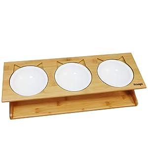 Petsoigné Cat Bowls Pet Dining Table