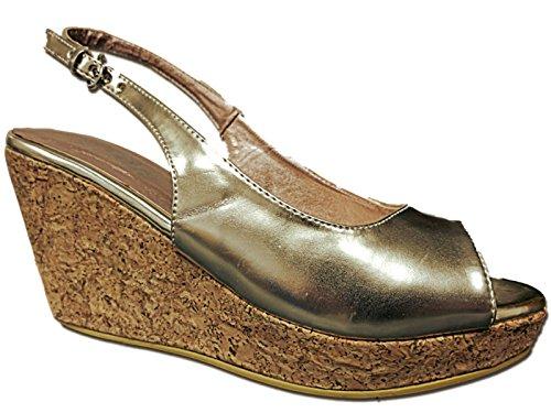 Foster Footwear - Wedges mujer dorado