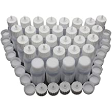 1 oz.Plastic Empty Squeezable Bottles for Body Paint or Henna Tattoo,Glue Dropping Bottle Applicator Bottles with 2 Caps(30/Pack,White Caps))