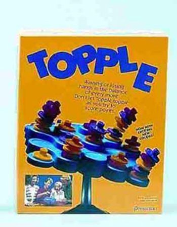Pressman Topple Game for 2 to 4 Players - Multicolor