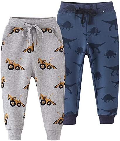 Amaone Unisex Baby Cotton Trousers 1-7 Years Boys Girls Kids Home Wear Elastic Waist Sweatpants Tracksuit Bottoms Sport Joggers