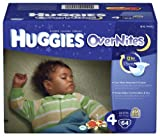 Huggies Overnites Diapers, Size 4, Big Pack, 60 Count
