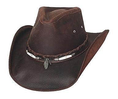 Bullhide Men s Briscoe Leather Cowboy Hat - 4052Ch at Amazon Men s ... b95f8ccd4688