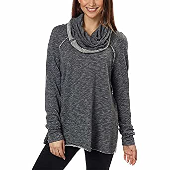 Free People Ladies' Cowl Neck Pullover(Charcoal, M/L)
