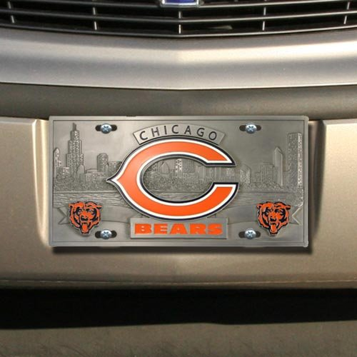 Enterprises Chicago Bears Heavy-Duty Col - Pewter License Plate Shopping Results