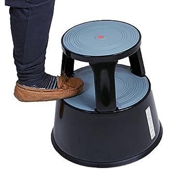 Amazon Com Casa Pura Light Gray Kick Stool Rolling Step