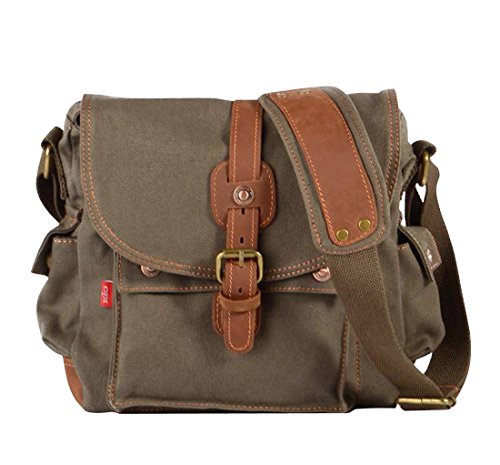 Womens Jeansian Messager Bg007 Bolsa Bag Lona Mujeres Mens Unisex Hombres Canvas Armygreen OBwO4x0