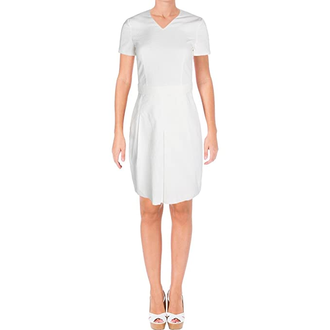 7374f435e Hugo Boss BOSS Womens Dylena Belted V-Neck Wear to Work Dress: Amazon.ca:  Clothing & Accessories