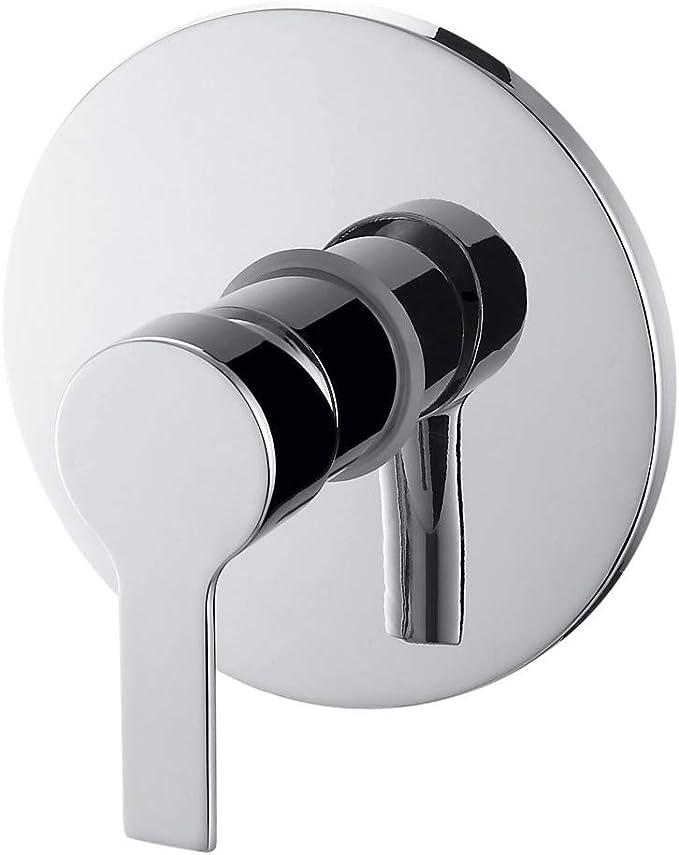 Grifo monomando cromado empotrado para ducha, colección LIS, modelo LIS25509C