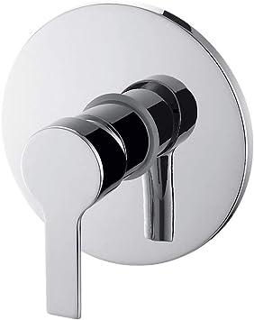 GRIFERIAS BORRÁS - SERIE LIS - Grifo Monomando empotrar para ducha LIS25509C, Cromo - Instalación Baño