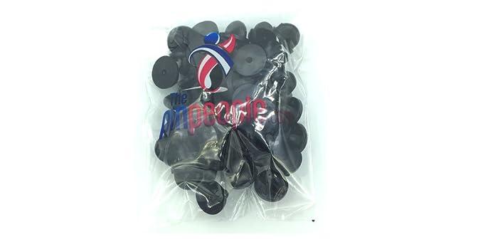 203f6344d7cd Amazon.com: Black PVC Rubber Pin Backs Pack of 50: The Pin People ...