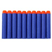 BESTOYARD 200pcs Foam Darts Refill Bullets for Nerf N-strike Elite Series Blasters Kids Toy Gun (Blue)