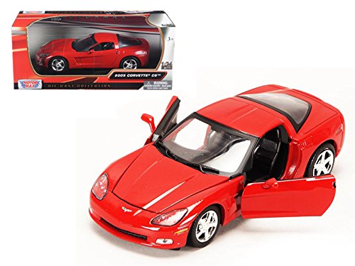 Motormax 73270 2005 Chevrolet Corvette C6 Coupe Red 1/24 Diecast Model Car (C6 Diecast Car Model)