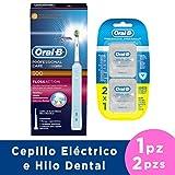 Oral-B Cepillo Eléctrico Recargable Professional Care 500 y Hilo Dental Pro-Salud Floss, 25 m, 2 Piezas