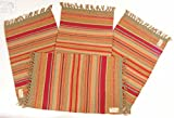 Serape Stripe Southwestern Style Jacquard Place-mats, set of 4, 13x20 inches