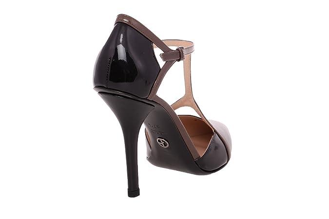a3b1861a88 Amazon.com | GIORGIO ARMANI Women Black Patent Leather Pointed Toe T-Strap  Dress Pumps Shoes | Pumps