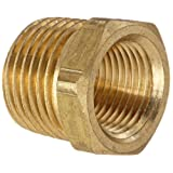 Anderson Metals 56110 Brass Pipe Fitting, Hex Bushing, 1/2
