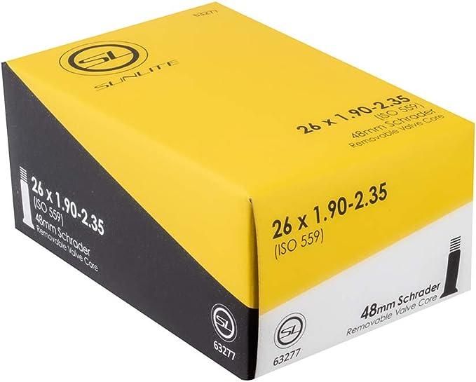 """2 Duro Bicycle Inner Tubes 26/"""" x 2.125/""""//2.35/""""//2.40/"""" 33mm Schrader Cruiser"""