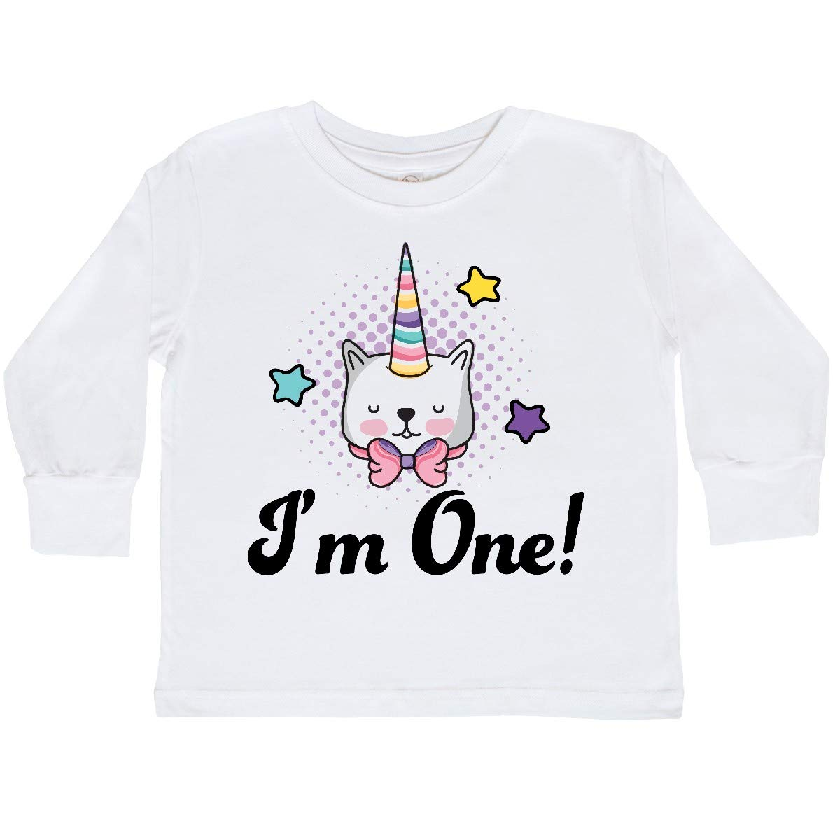 inktastic First Birthday Unicorn Cat 1 Year Old Toddler Long Sleeve T-Shirt