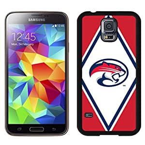 NEW Personalized Customized Galaxy S5 Case with NCAA American Athletic Conference AAC Football Houston Cougars 2 Logo Cell Phone Hardshell Cover Case for Galaxy S5 S 5 SV S V i9600 Black