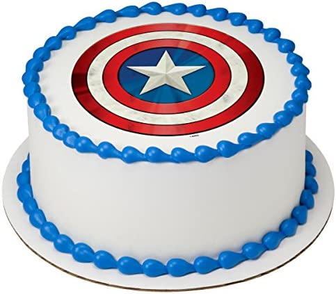 Brilliant Amazon Com Avengers Captain America Edible Cake Topper Or Cupcake Funny Birthday Cards Online Elaedamsfinfo
