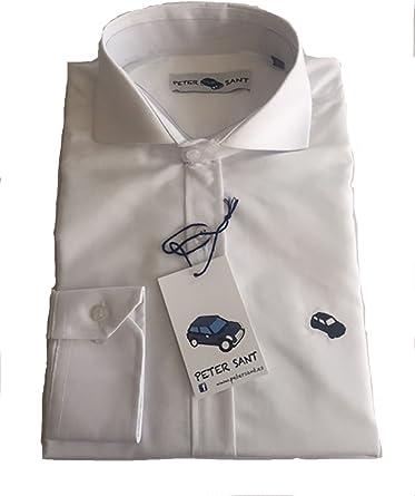 Camisa Hombre Slim Fit Blanca Casual Oxford liso Algodón | Manga Larga: Amazon.es: Ropa y accesorios