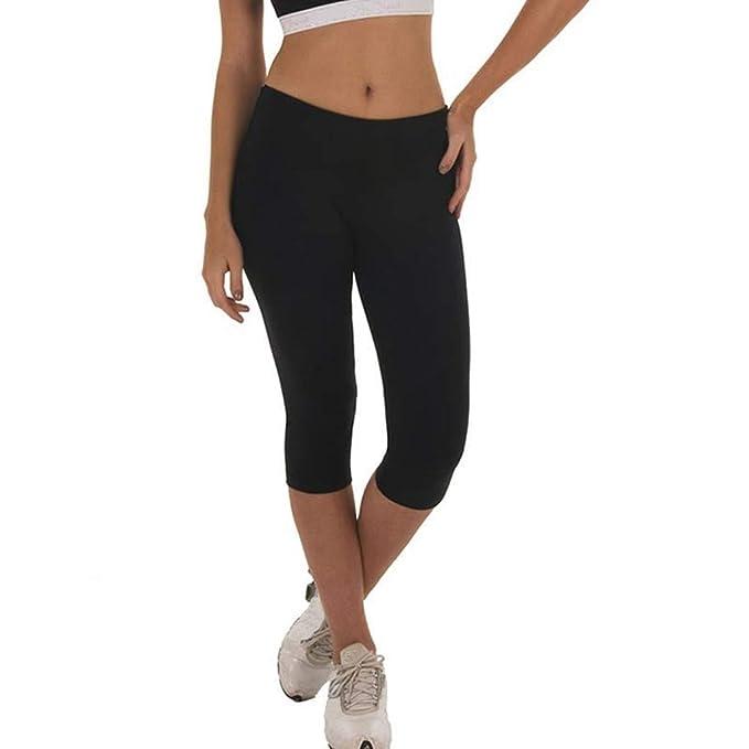 Mujer Pantalones Verano Mallas Mujer Fitness Elásticos Mallas Moda Pantalones Impresión Leggings Slim Fit Mayas Pantalones Cortos Gym Yoga Cintura ...