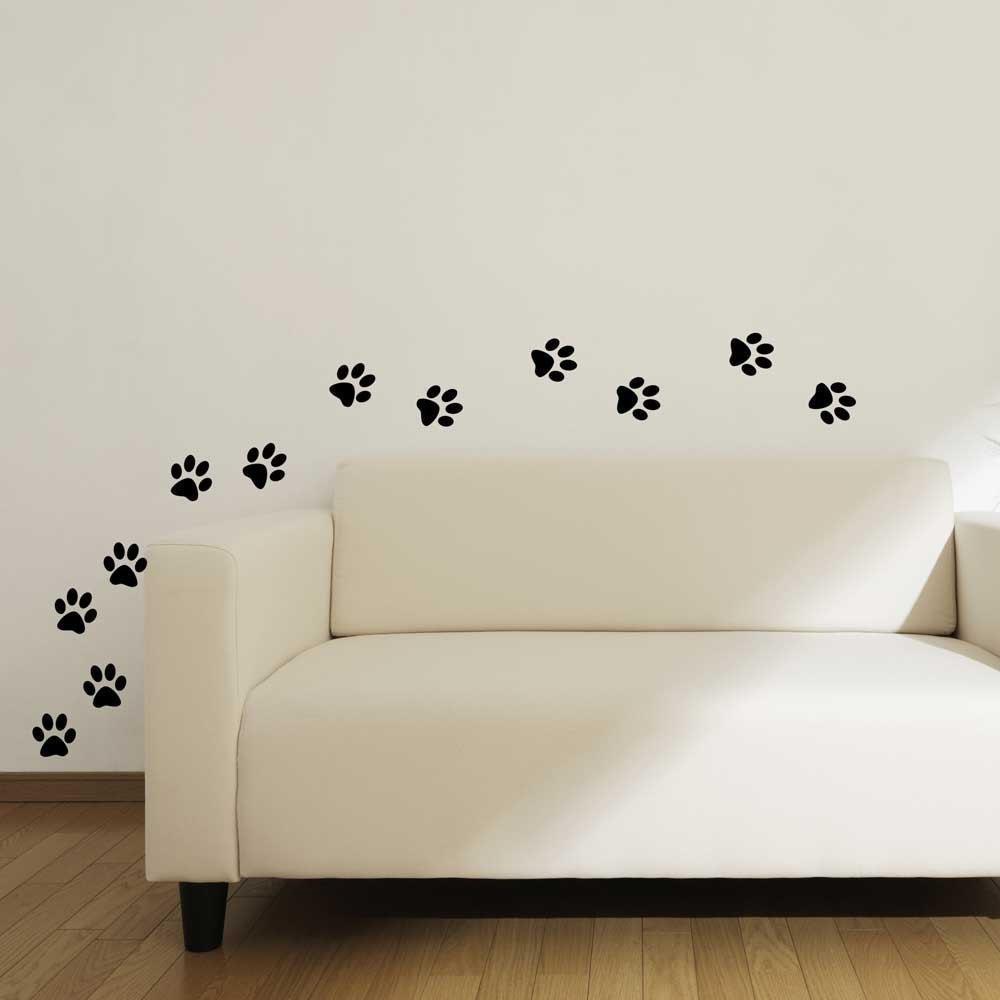 Vinyl Sticker Cat Paw Print Wall Decals For Home Decor Pet Shop School Classroom Office Animal Lovers Handmade
