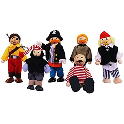 Bigjigs Toys Heritage Playset Pirate Set Doll: Toys & Games