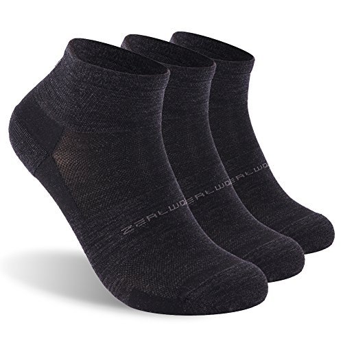 Athletic Running Socks,ZEALWOOD Men Women Antibacterial Merino Wool Socks,Hidden Dry Moisture-Wicking Socks For Men and Women Christmas Socks Best Christmas Gifts (Socks Wool Thin)