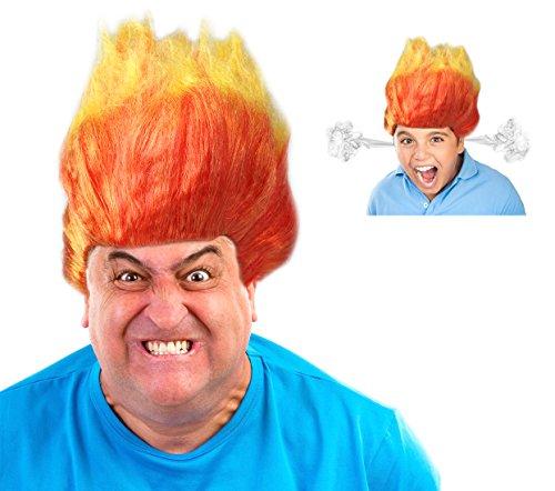 Costume Adventure Two Toned Orange Flame Wig
