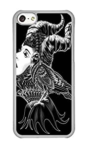 Apple Iphone 5C Case,WENJORS Personalized Maleficent Tribute Hard Case Protective Shell Cell Phone Cover For Apple Iphone 5C - PC Transparent