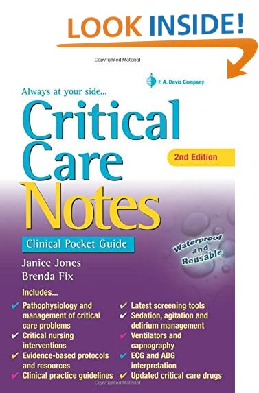 critical care notes clinical pocket guide - What Makes A Good Icu Nurse