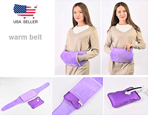 Rechargeable Portable Heat Pad/Pack Purple Comfy Sash, Waistband Warmer, Belt (46 inches) by Hot Shot