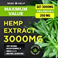 Hemp Oil Drops (3000 MG) - Ultra Premium Formula - Made in The USA - All Natural Anxiety, Sleep and Mood Support - Provides Pain and Inflammation Relief - Best Mint Flavor…