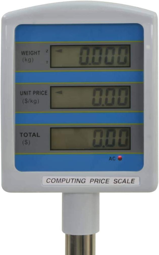 Tidyard Bascula Digital Comercial Balanza Pesa Digital Electronica para Comercio de Mesa con LCD 30 kg