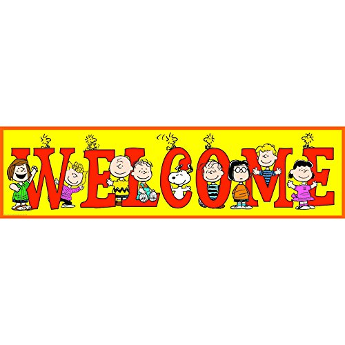 EUREKA PEANUTS WELCOME BANNER (Set of 24) by Eureka
