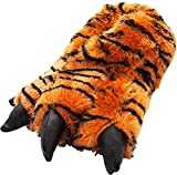 NORTY - Big Adults Big Bengal Tiger Claw Slippers, Brown, Black 39426-Large