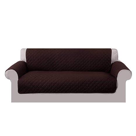 Umiwe Funda Sofa 3 Plazas Cubre Sofas 2 Plazas Funda Sillon Sofa Saver elasticas para Perro en Negro Borgona Marron Azul (3 plazas, marrón 2)