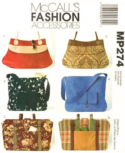Amazon.com: McCalls 4608 Craft Pattern Handbags Purses Sewing ...