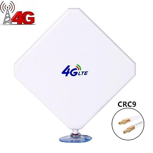 28 opinioni per Urant Antenna 4G LTE, CRC9 Dual Mimo 35 dBi amplificatore segnale antenna