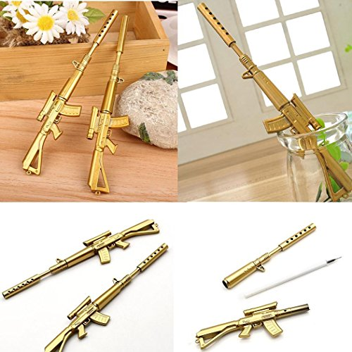 Foshin New Rifle Shape Black Ink Ballpoint Office Ball Point Novelty Pen Stationery Ballpoint Pens
