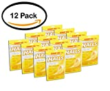 PACK OF 12 - Halls Sugar Free Honey Lemon Flavor Cough Drops, 70 count