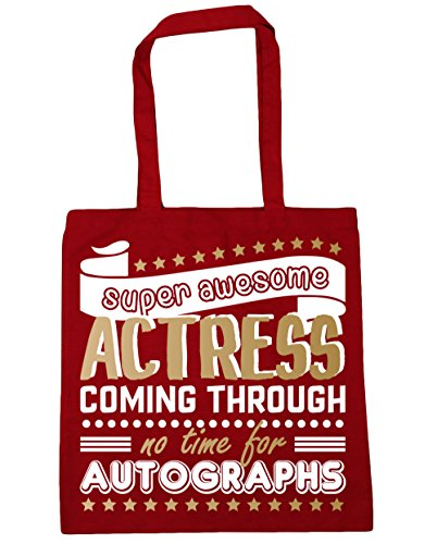No For Bag Super Autographs 10 x38cm Beach 42cm Coming Shopping HippoWarehouse litres Gym Awesome Red Through Tote Actress Classic Time dXOZx08