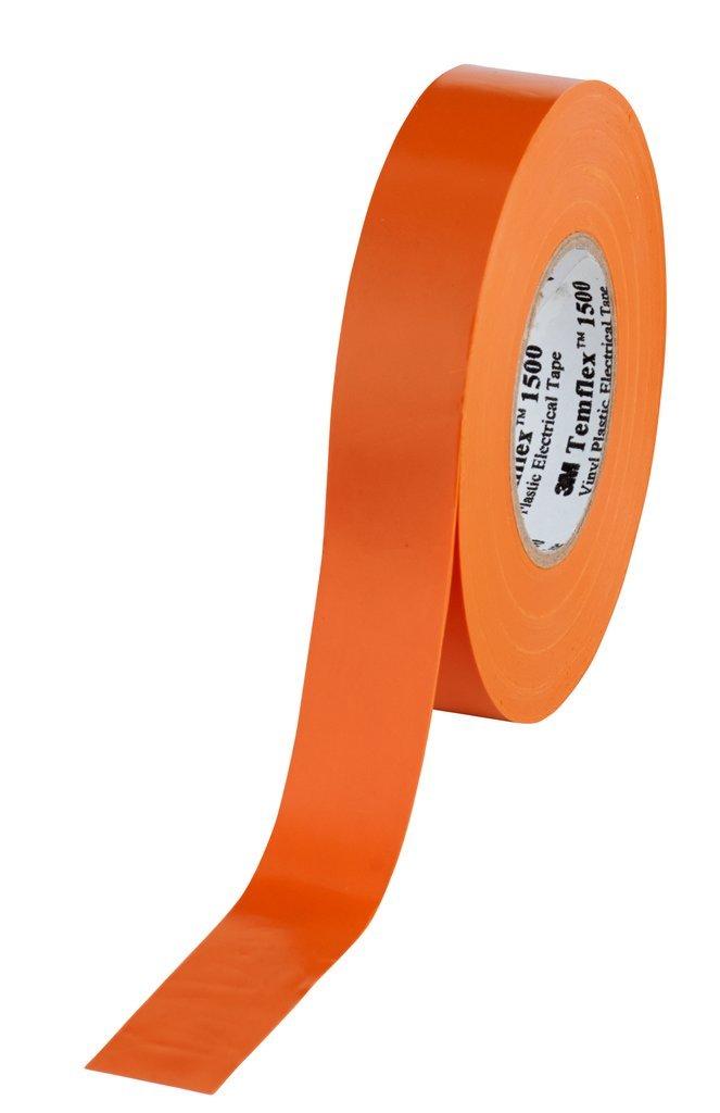 3 M Gate A1925 Temflex 1500 Vinyl Electrical Insulation Tape 19 mm x 25 m A high quality, 0.15 mm, orange 0.15mm 3M 7000062308