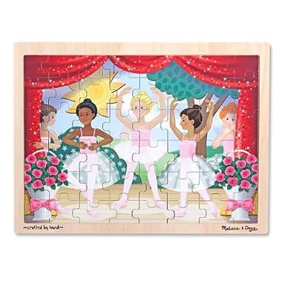 Melissa & Doug Ballet Recital Wooden Jigsaw Puzzle With Storage Tray (48 pcs)