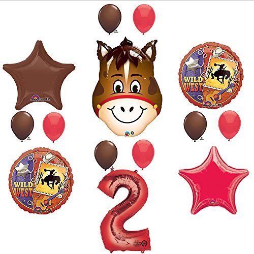 Wild West Cowboy Western 2nd Birthday Party Supplies and Balloon Decorations for $<!--$19.99-->